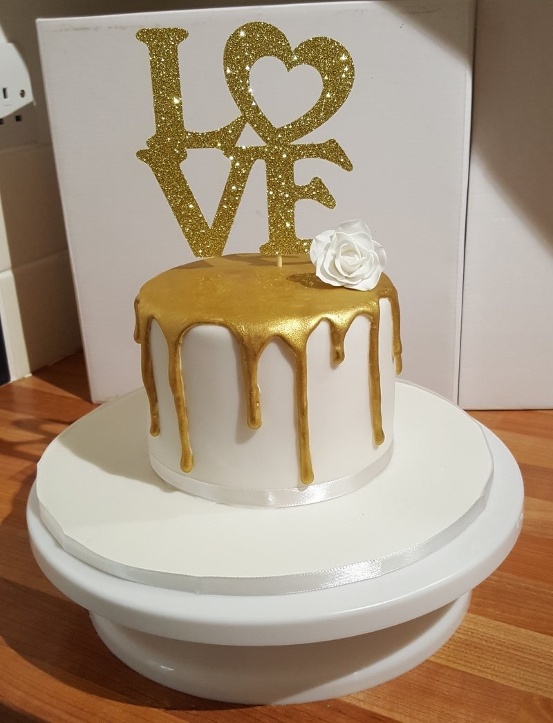 The Gold Drip Cake