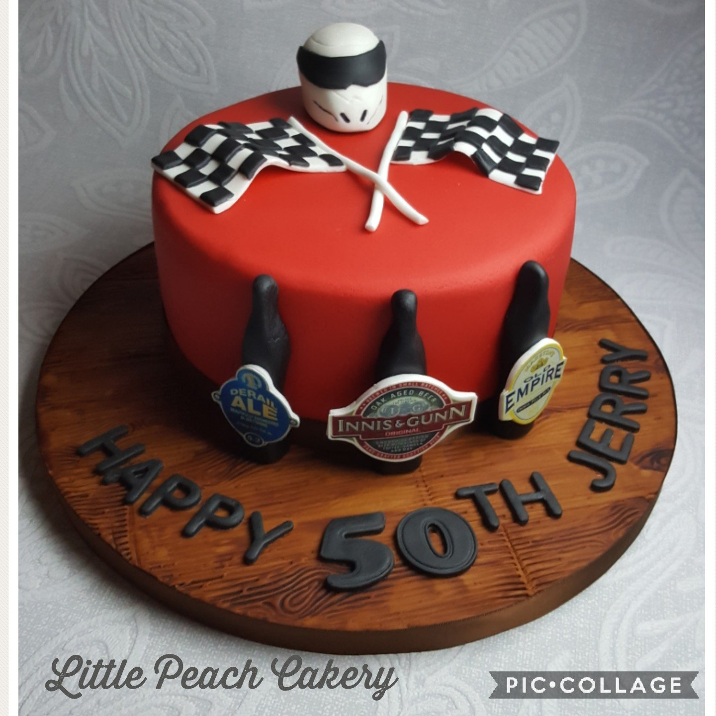 Top gear and Ale themed cake – Little Peach Cakery
