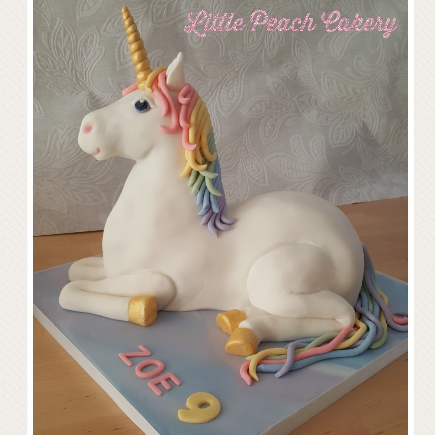 How To Make A 3d Laying Down Rainbow Unicorn Cake Little Peach Cakery