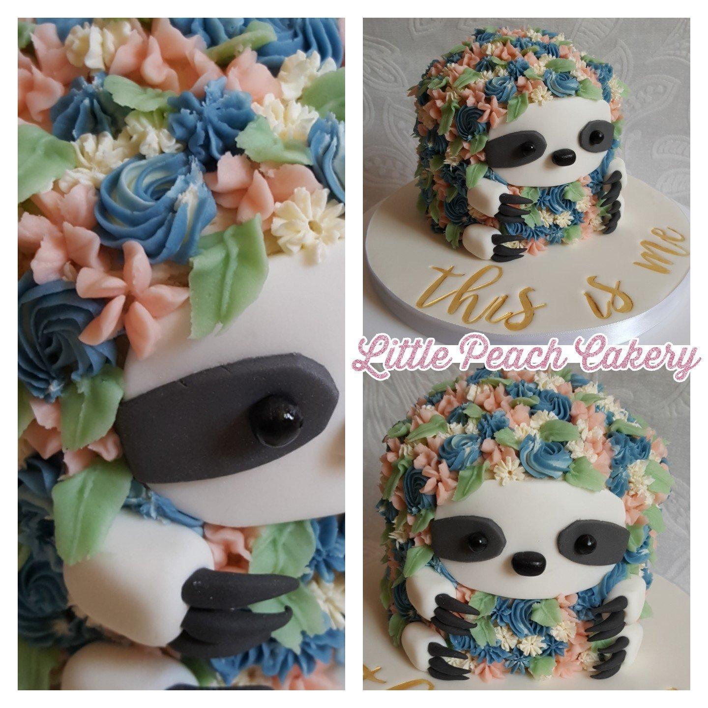Make a Flower Sloth Cake – Little Peach Cakery
