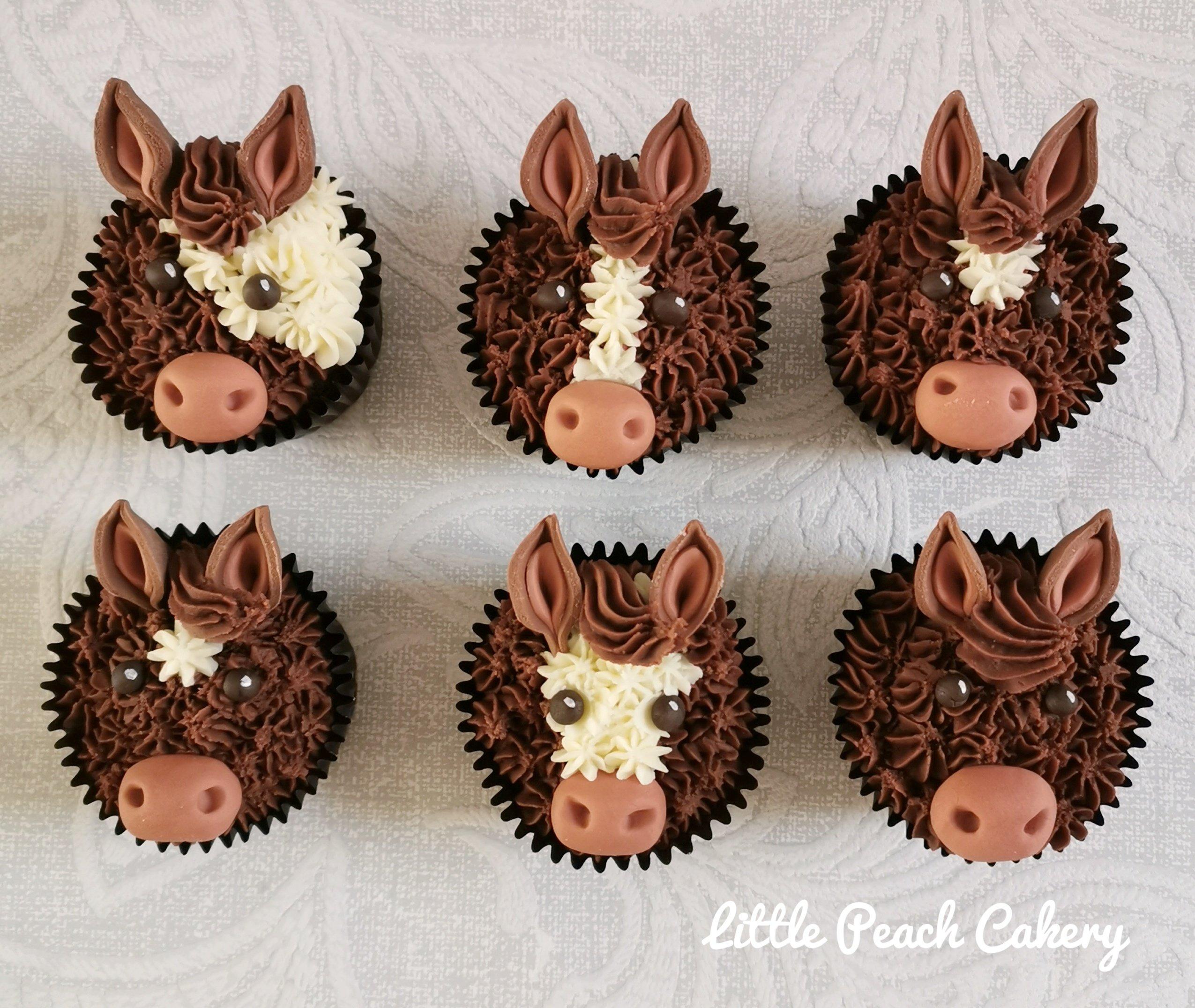 Horse Pony Cupcakes Little Peach Cakery